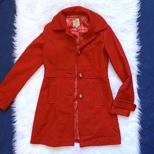 Anthropology Tulle pea coat jacket women's small